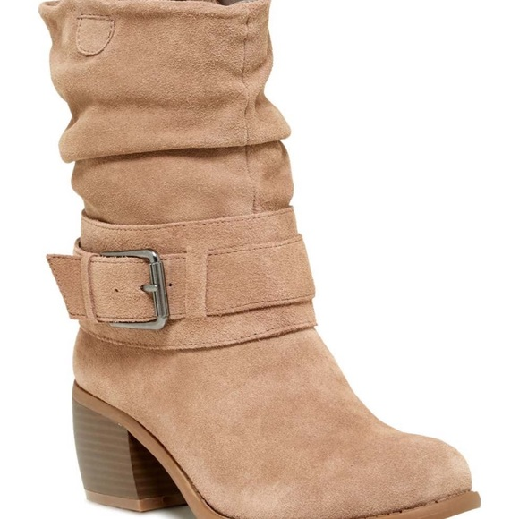 Kenneth Cole Reaction Suede Curveball Slouch boots